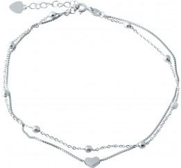Серебряный браслет на ногу SilverBreeze без камней (1982983) 2326 размер