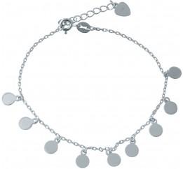 Серебряный браслет на ногу SilverBreeze без камней (2014386) 2326 размер