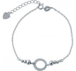 Серебряный браслет SilverBreeze без камней (2014423) 1518 размер