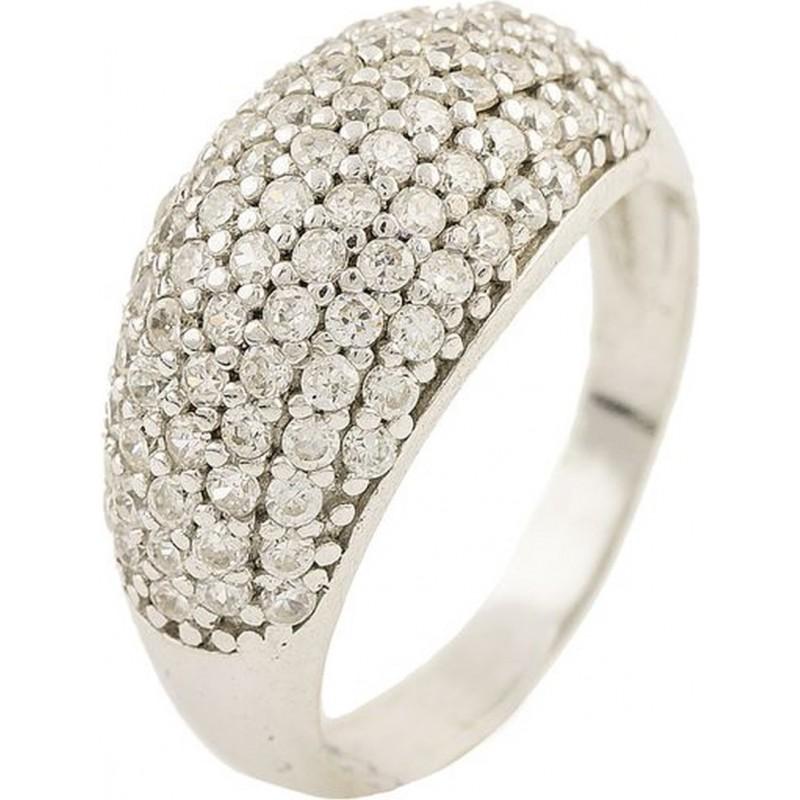 Серебряное кольцо SilverBreeze с фианитами (0045184) 17.5 размер