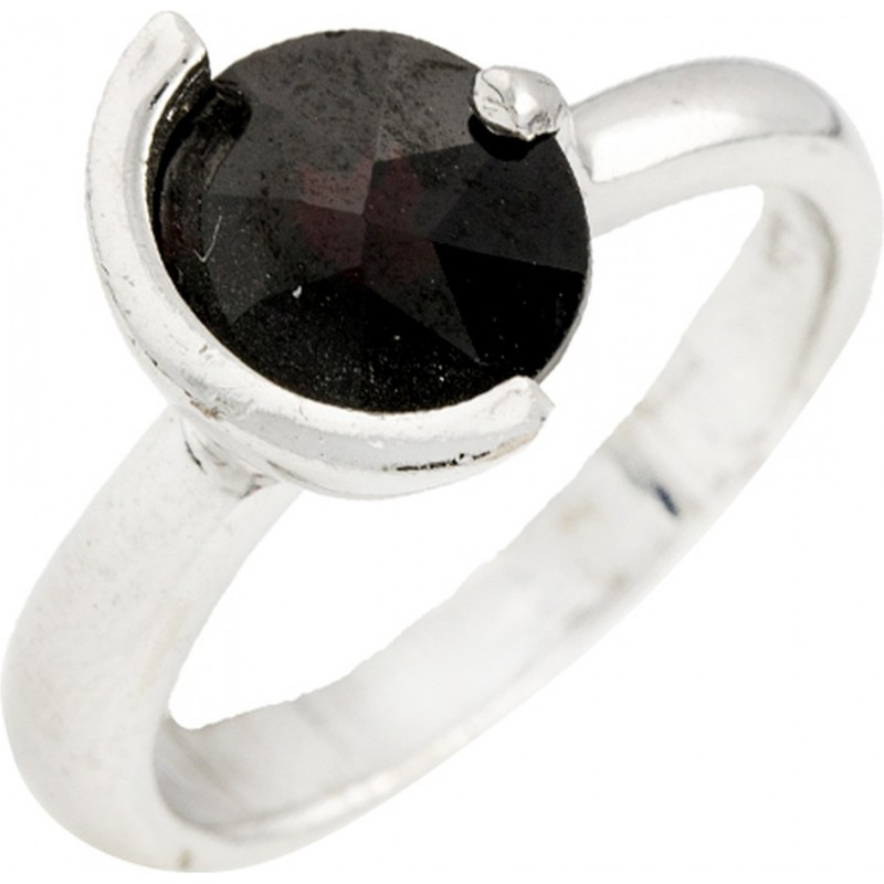 Серебряное кольцо SilverBreeze с натуральным гранатом (0077727) 17.5 размер