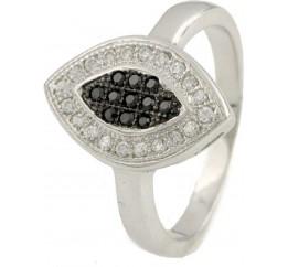 Серебряное кольцо SilverBreeze с фианитами (0118314) 16.5 размер