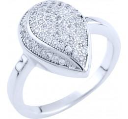 Серебряное кольцо SilverBreeze с фианитами (0119205) 17 размер