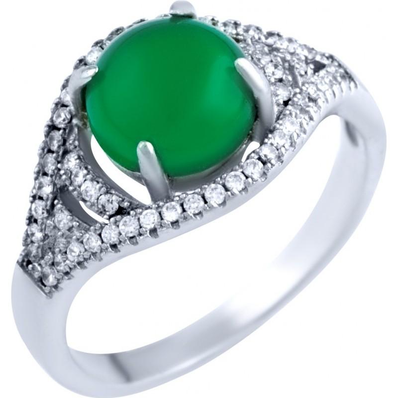 Серебряное кольцо SilverBreeze с натуральным агатом (0232201) 17.5 размер