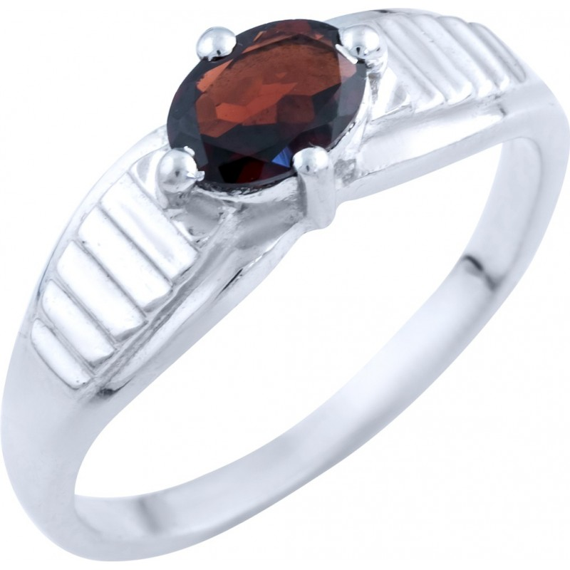 Серебряное кольцо SilverBreeze с натуральным гранатом (0332062) 19 размер