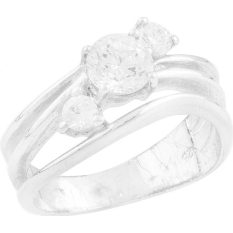 Серебряное кольцо SilverBreeze с фианитами (0407678) 16 размер