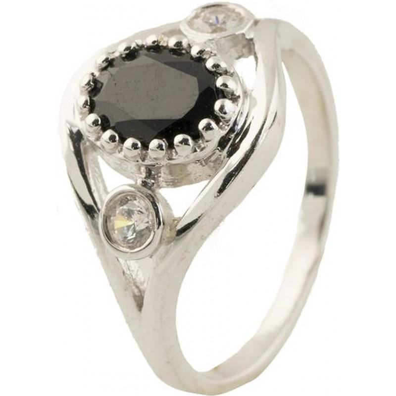 Серебряное кольцо SilverBreeze с натуральным сапфиром (0442471) 16 размер