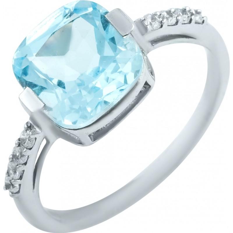 Серебряное кольцо SilverBreeze с натуральным топазом (0461694) 17.5 размер