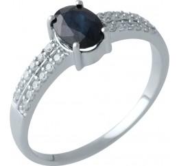 Серебряное кольцо SilverBreeze с натуральным сапфиром (0467542) 18 размер
