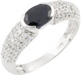 Серебряное кольцо SilverBreeze с натуральным сапфиром (0467825) 18 размер