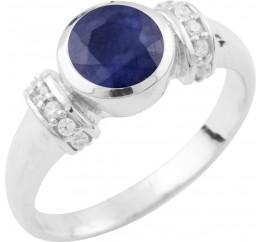 Серебряное кольцо SilverBreeze с натуральным сапфиром (0468211) 17.5 размер