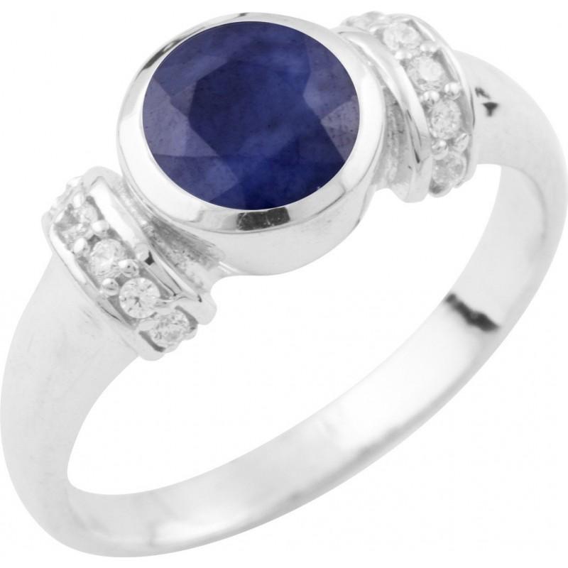 Серебряное кольцо SilverBreeze с натуральным сапфиром (0468211) 17 размер