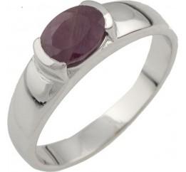 Серебряное кольцо SilverBreeze с натуральным рубином (0476896) 18 размер