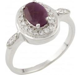 Серебряное кольцо SilverLine с натуральным рубином (0477091) 16.5 размер