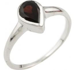 Серебряное кольцо SilverBreeze с натуральным гранатом (0478036) 18 размер