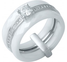 Серебряное кольцо SilverBreeze с керамикой (0481630) 16.5 размер