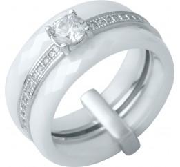 Серебряное кольцо SilverBreeze с керамикой (0481630) 16 размер