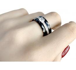 Серебряное кольцо SilverLine с керамикой (0481685) 17 размер