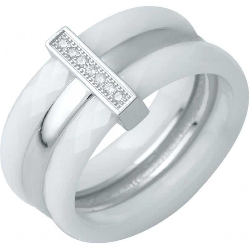 Серебряное кольцо SilverBreeze с , керамикой (0481791) 16 размер