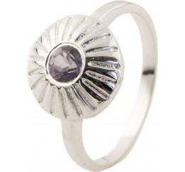 Серебряное кольцо SilverBreeze с натуральным раухтопазом (димчатим кварцем) (0502137) 18 размер
