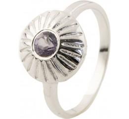 Серебряное кольцо SilverBreeze с натуральным раухтопазом (димчатим кварцем) (0502137) 17 размер