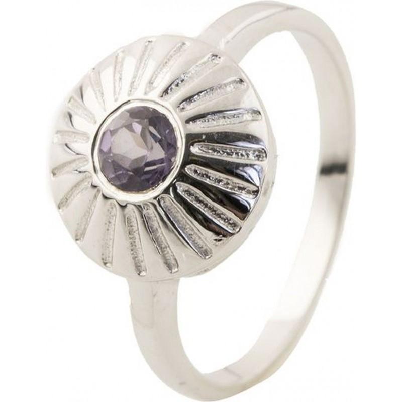 Серебряное кольцо SilverBreeze с натуральным раухтопазом (димчатим кварцем) (0502137) 16.5 размер