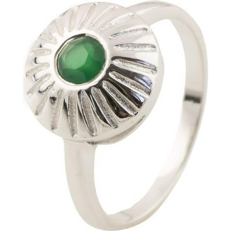 Серебряное кольцо SilverBreeze с натуральным агатом (0510675) 18 размер