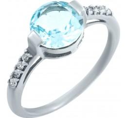Серебряное кольцо SilverBreeze с натуральным топазом (0513720) 18 размер