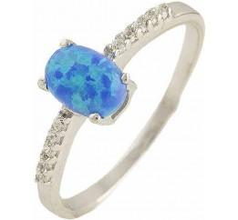 Серебряное кольцо SilverBreeze с опалом (0566238) 18.5 размер