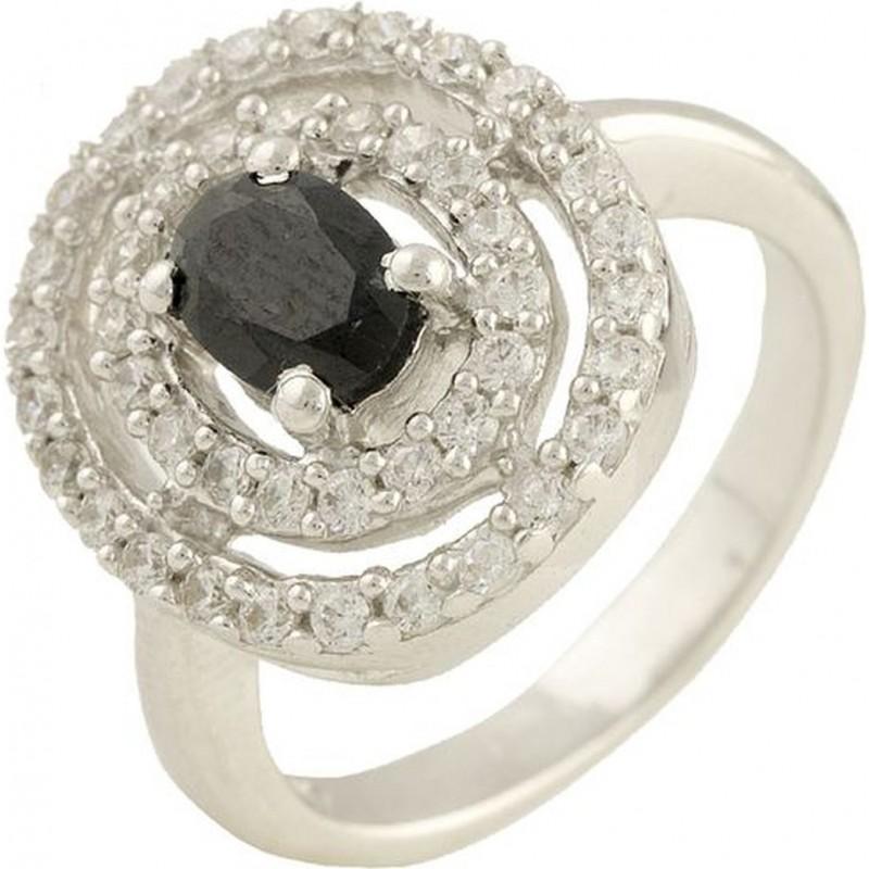 Серебряное кольцо SilverBreeze с натуральным сапфиром (0569888) 16.5 размер