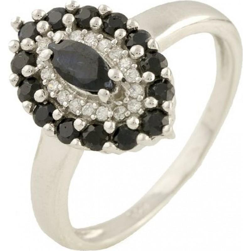 Серебряное кольцо SilverBreeze с натуральным сапфиром (0570822) 16.5 размер