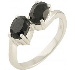 Серебряное кольцо SilverBreeze с натуральным сапфиром (0571409) 17 размер