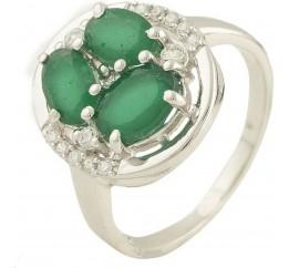 Серебряное кольцо SilverBreeze с натуральным агатом (0572390) 16 размер
