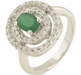 Серебряное кольцо SilverBreeze с натуральным агатом (0572758) 17 размер