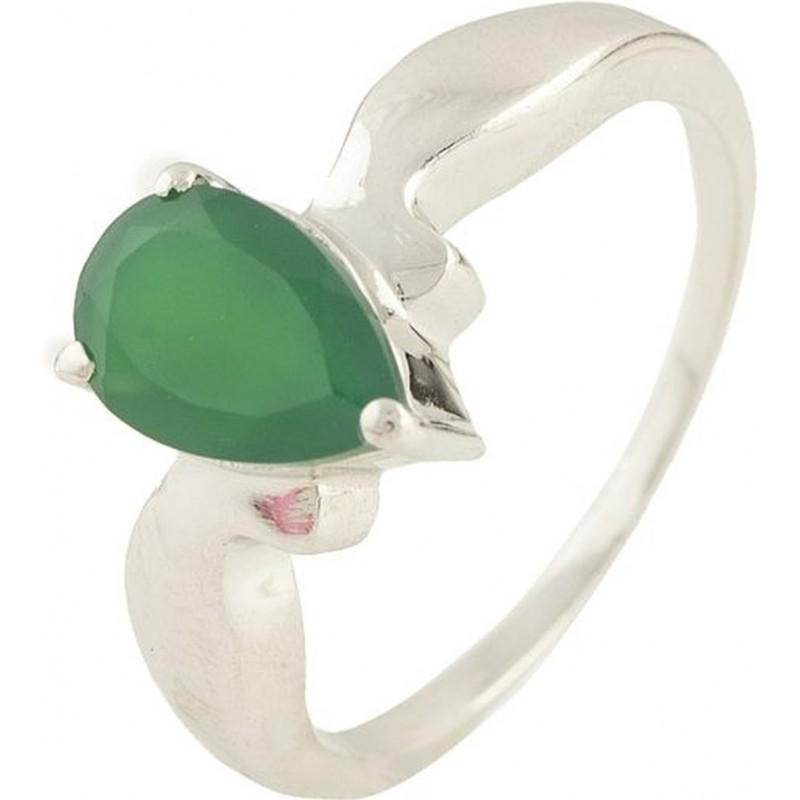 Серебряное кольцо SilverBreeze с натуральным агатом (0572956) 16 размер