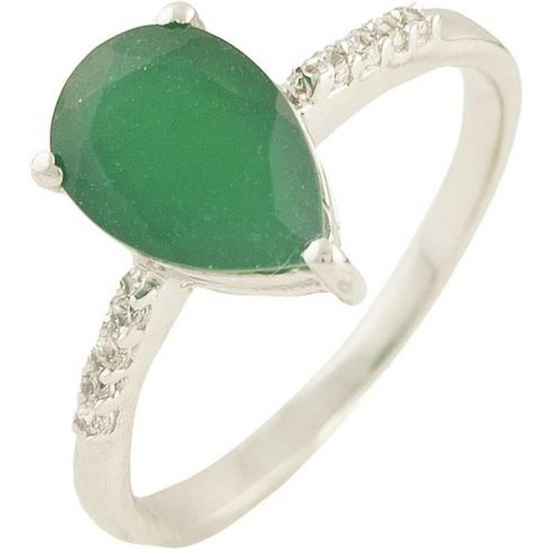 Серебряное кольцо SilverBreeze с натуральным агатом (0573793) 16.5 размер