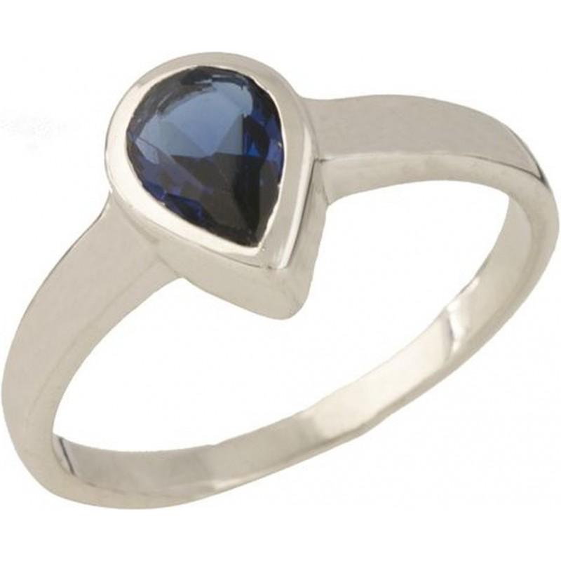 Серебряное кольцо SilverBreeze с сапфиром nano (0700441) 18 размер