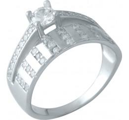 Серебряное кольцо SilverBreeze с фианитами (0828459) 18 размер