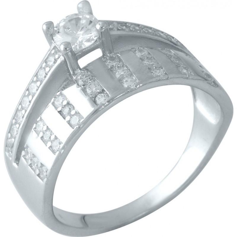Серебряное кольцо SilverBreeze с фианитами (0828459) 16 размер