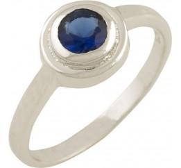 Серебряное кольцо SilverBreeze с сапфиром nano (0867007) 17.5 размер