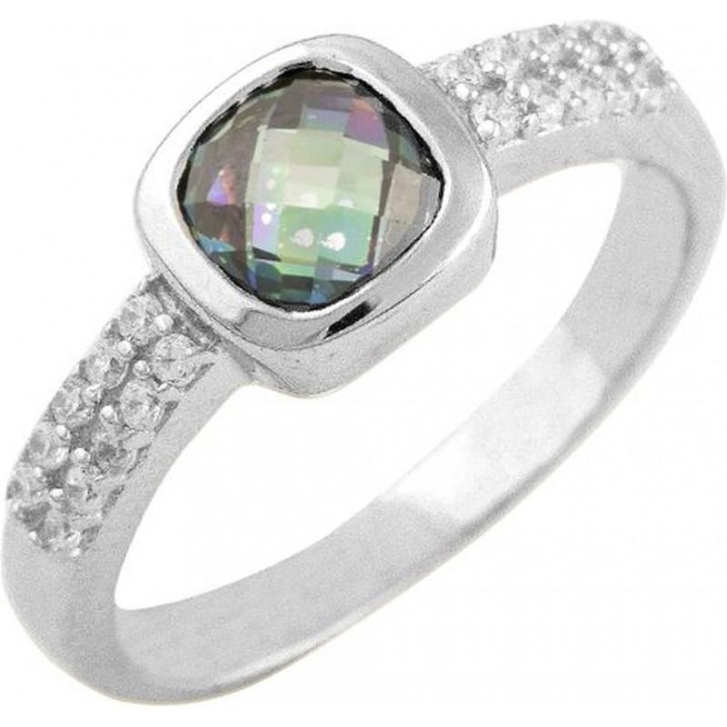 Серебряное кольцо SilverBreeze с натуральным мистик топазом (0868455) 17 размер