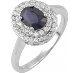 Серебряное кольцо SilverBreeze с натуральным сапфиром (0876375) 18 размер