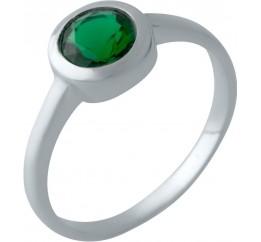 Серебряное кольцо SilverBreeze с изумрудом nano (0917856) 17 размер