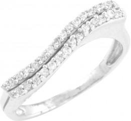 Серебряное кольцо SilverBreeze с фианитами (0130019) 18 размер
