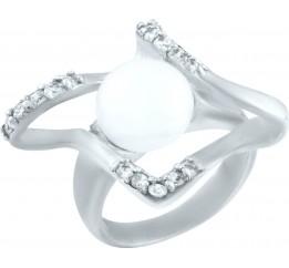Серебряное кольцо SilverBreeze с натуральным жемчугом (0316598)