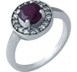 Серебряное кольцо SilverBreeze с натуральным рубином (0404295)