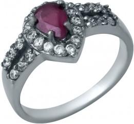 Серебряное кольцо SilverBreeze с натуральным рубином (0435565) 18 размер