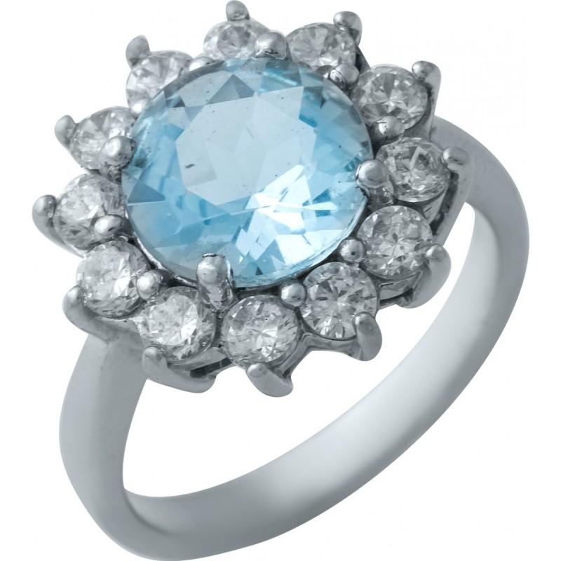 Серебряное кольцо SilverBreeze с натуральным топазом (0437255)