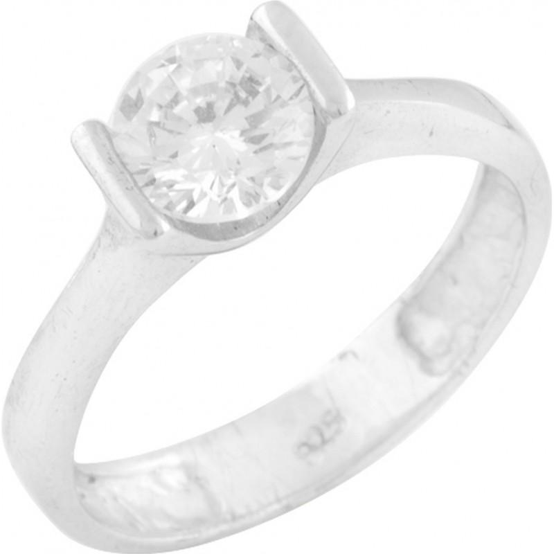 Серебряное кольцо SilverBreeze с фианитами (0583440) 17.5 размер
