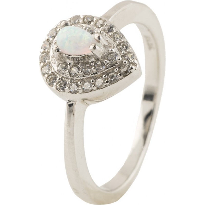 Серебряное кольцо SilverBreeze с опалом (0838335) 17.5 размер